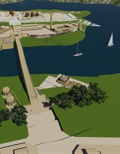 Hasankeyf'te Ilısu Barajı'nın altında kalacak eserler taşınıyor