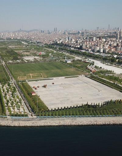 İşte İstanbul'da 1 Mayıs'ın kutlanacağı Maltepe Miting alanındaki hazırlıklar