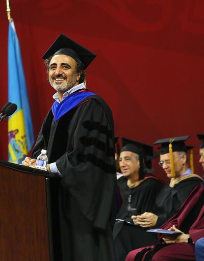 Chobani'nin kurucusu Hamdi Ulukaya öğrencilere hikayesini anlattı