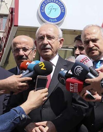CHP lideri Kılıçdaroğlu, hastanedeki Saadet adayını ziyaret etti