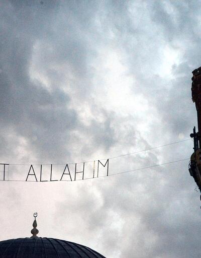 Diyarbakır'da yıldırım düşen caminin minaresi, yıkıldı