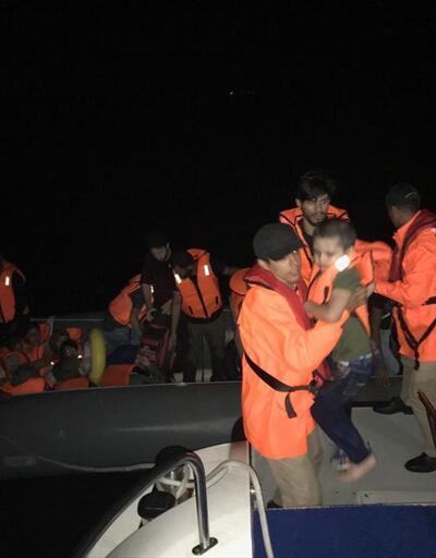 Didim açıklarında 33 göçmen yakalandı