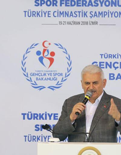 Başbakan Binali Yıldırım Jimnastik Şampiyonası açılışında