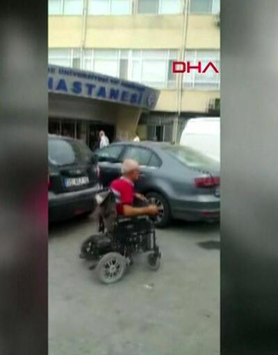 Engelli hasta hastaneye giremedi