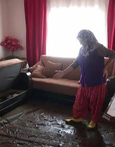 Sağanak sele yol açtı, evleri su bastı