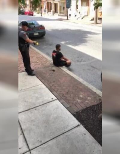 ABD polisi oturan adamı şok tabancasıyla vurdu!