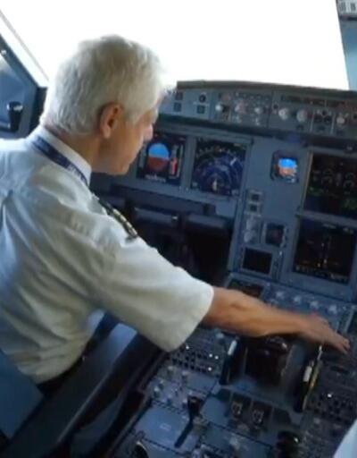 Kaptan pilot gökyüzüne veda etti
