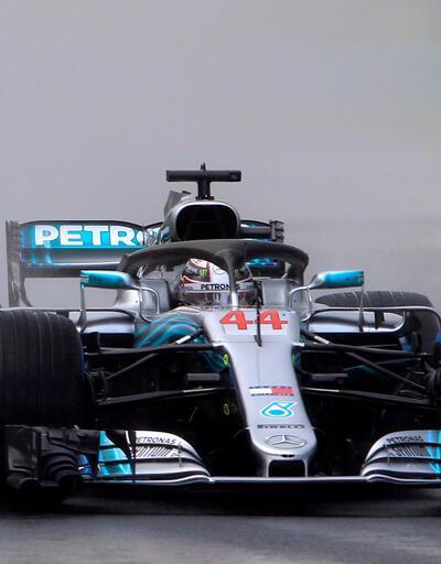 F1 Macaristan'da yağmur Hamilton'a pole position'ı getirdi