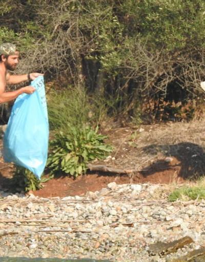 Kadir Doğulu ve Neslihan Atagül çöp topladı
