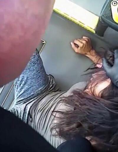 Otobüsten inmiyor diye kadını darp etti