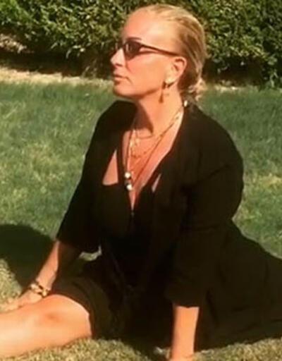 Saba Tümer yoga yaptı
