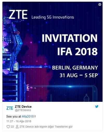 ZTE Axon 9, IFA 2018'de tanıtılacak