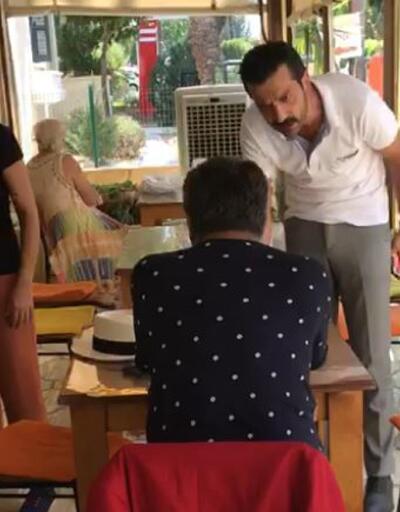 KKTC'li genel başkandan Barbaros Şansal'a restoranda tepki