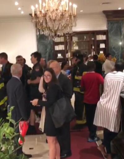 Son dakika... ABD'de Türk gazetecilerin kaldığı otelde yangın alarmı