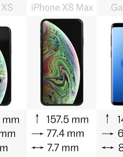 iPhone Xr, Xs, Xs Max, Samsung Galaxy S9 ve S9+ karşılaştırması