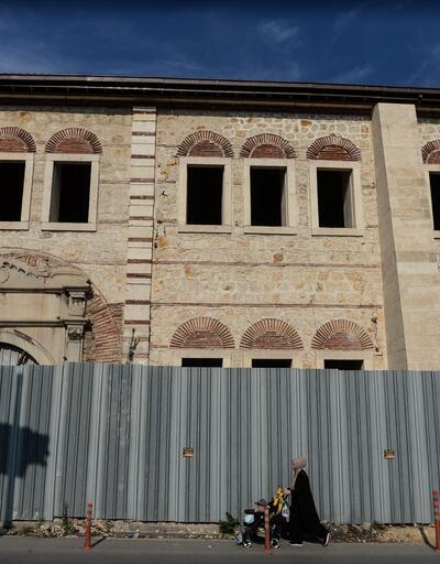 Restorasyon çalışmaları devam eden Rami Kışlası havadan görüntülendi