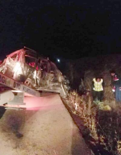 Uşak'ta otomobil takla attı: 1 ölü, 3 yaralı