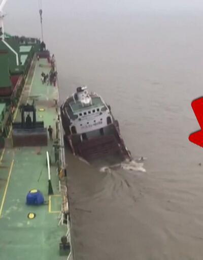 Türk gemisine çarpıp böyle battı