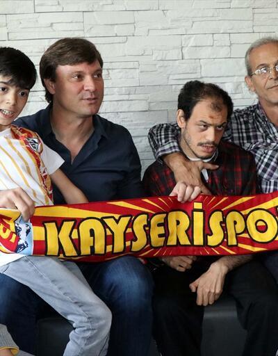Kayserispor'dan 'özel öğrencilere' ziyaret