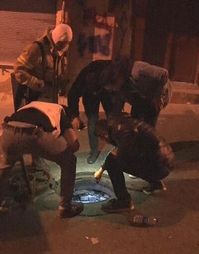 Polis uyuşturucuyu kanalizasyondan çıkardı