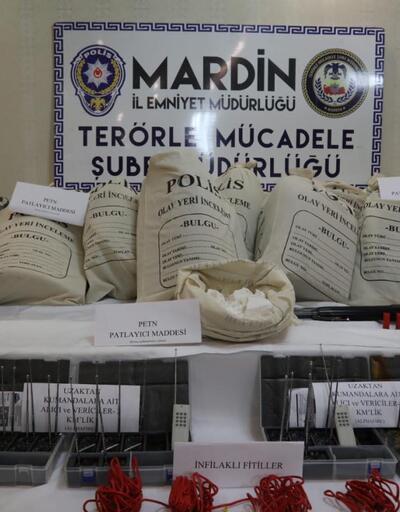 Mardin'de 3 terörist, 250 kilo patlayıcıyla yakalandı (2)