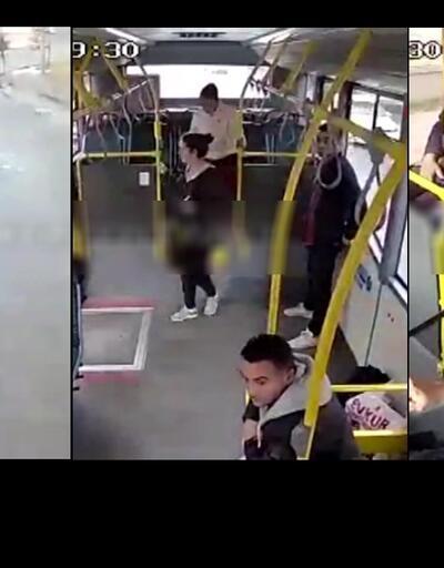 Ehliyetsiz sürücü dehşeti! Halk otobüsüne böyle çarptı