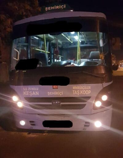 Yolcu minibüsü sürücüsü 1.89 promil alkollü çıktı