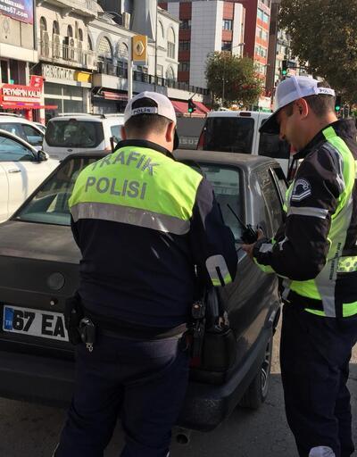 Zonguldak'ta polisten trafik denetimi