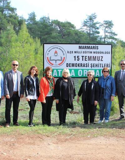 Marmaris'te öğrencilerden yeşile katkı