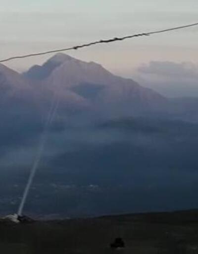 Derecik'ten PKK hedeflerine yoğun top atışı