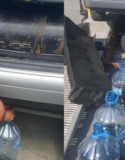 Sınırdaki aracın yakıt deposunda kaçak bal yakalandı