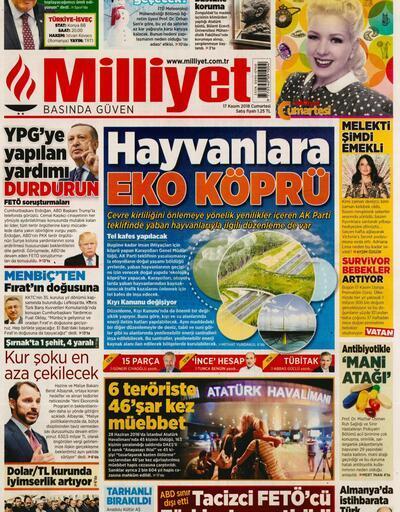 17 Kasım 2018 - Gazete Manşetleri