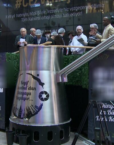 Dünya rekoru: 2 buçuk ton Türk kahvesi pişirildi