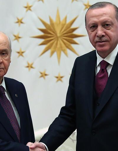 Son dakika.. Erdoğan ve Bahçeli bir araya geldi