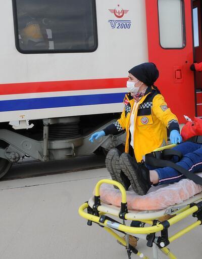 112'den tren kazası tatbikatı