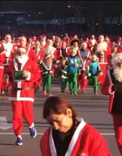 Noel Babalar kanser için koştu