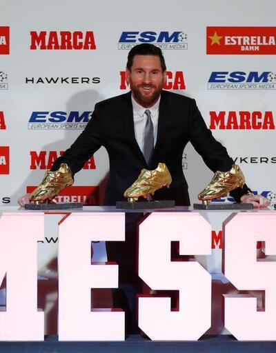Messi 5. kez Altın Ayakkabı'yı aldı