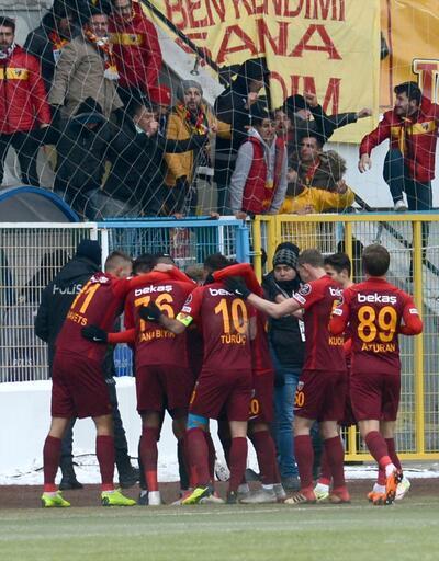 Erzurumspor-Kayserispor maçında gol sevinci kavgası
