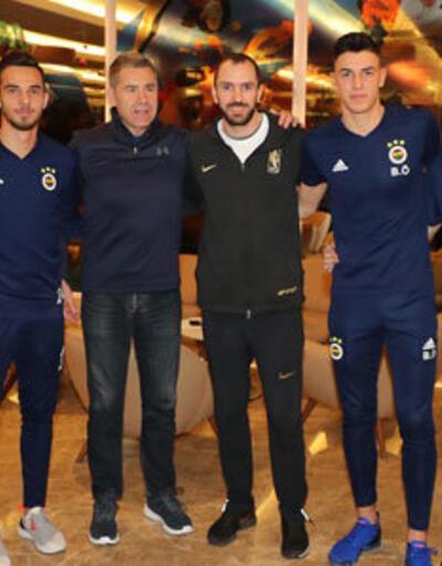 Ramil Guliyev, Fenerbahçeli futbolcuları ziyaret etti