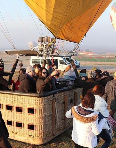 Beyaz Cennet'te balon turlarına yoğun ilgi
