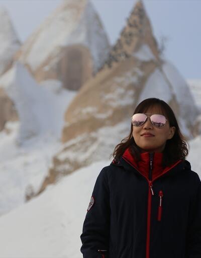 Yeni yılın ilk gününde Kapadokya'ya ziyaretçi akını