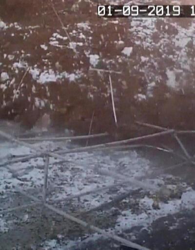 Kahramanmaraş'taki istinat duvarı böyle çökmüş