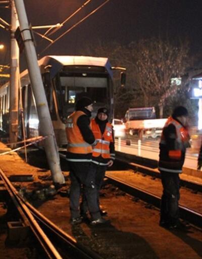 Tramvay kazasında tehlike ucuz atlatıldı