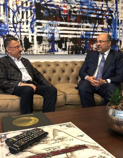 Cumhurbaşkanı Yardımcısı Fuat Oktay'dan Demirören Medya CEO'su Mehmet Soysal'a ziyaret