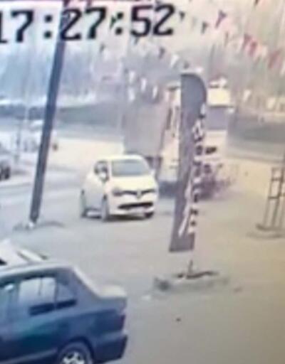 Kontrolden çıkan kamyon bisikletli genci ezdi