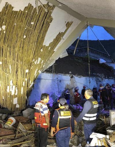 Peru'da düğünde facia: Otelin duvarı ve çatısı çöktü