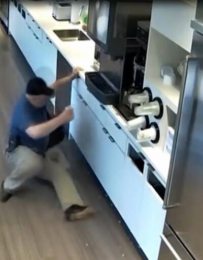 Sigortadan para almak için yaptığı sahtekârlığı güvenlik kamerası kaydetti