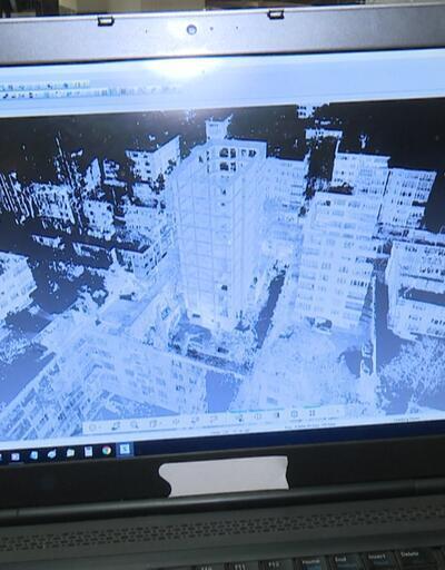 Riskli binaya lazerli takip