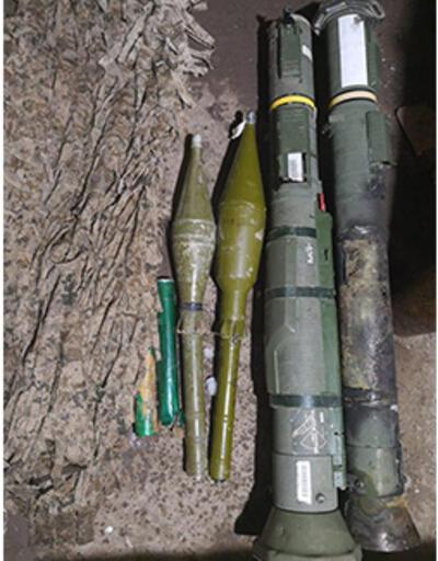 Teröristlere ait roketatarlar bulundu