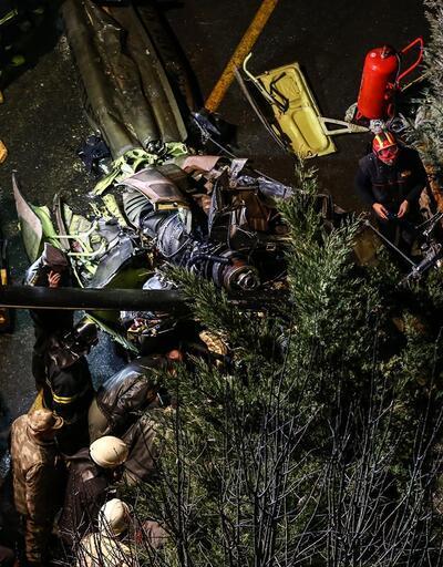 Helikopterin düştüğü bölgeden son fotoğraflar